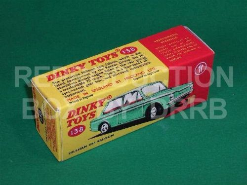 Dinky #138 Hillman Imp - Reproduction Box